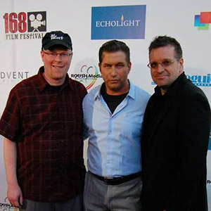 Christopher Shawn Shaw with Stephen Baldwin and Thor Ramsey on the 168 Film Festival Red Carpet